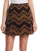 Marc Jacobs Pleated Chevron Skirt