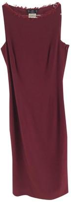 John Galliano Burgundy Wool Dress for Women