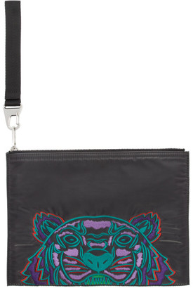Kenzo Grey Limited Edition Holiday Kampus Tiger Pouch
