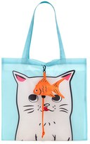 Forever 21 FOREVER 21+ Cat Graphic Pop-Out Tote Bag