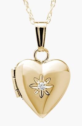 Mignonette 14k Gold & Diamond Heart Locket Necklace
