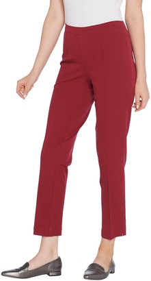 Isaac Mizrahi Live! Regular 24/7 Stretch Ankle Pants with Pintuck