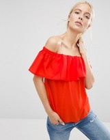 French Connection Polly Cold Shoulder Top