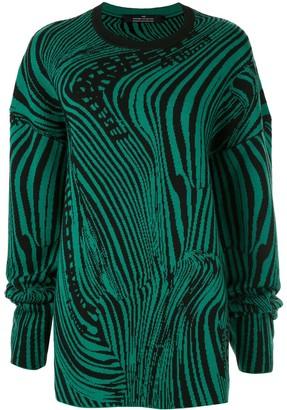 Rokh knitted swirl jumper