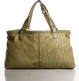 Marc by Marc Jacobs Pale Yellow Leather Logo Gold Tone Hardware Satchel Handbag