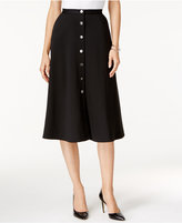 NY Collection Ponte A-Line Skirt