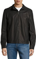HUGO BOSS Zip-Up Leather Jacket