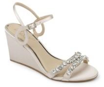 Badgley Mischka Neil Evening Wedge Sandal Women's Shoes