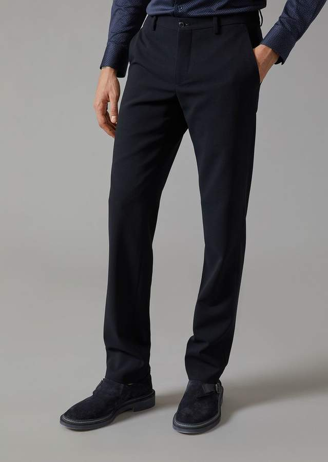 Giorgio Armani Trousers In Stretch Wool
