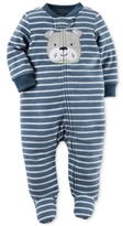 Carter's Baby Microfleece Boys' Striped Dog Footed Coverall