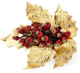 Deborah Rhodes Metallic Holly Napkin Ring