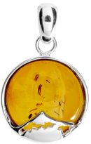 Ostsee-Schmuck 001 Ladies 'Pendant 925/000 Sterling Silver and Amber
