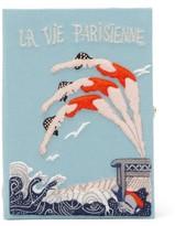 Olympia Le-Tan Olympia Le Tan La Vie Parisienne Embroidered Book Clutch - Womens - Blue Multi