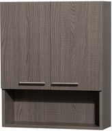 WYNDHAM COLLECTION Wyndham Collection Amare Bathroom Wall-Mounted Storage Cabinet in Gray Oak (Two-Door)