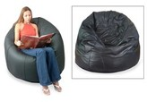 Novica Large Bean Bag Cover Upholstery Color: Brown