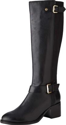 Dune London Dune Ladies Women's TILDAA Block Heel Knee High Boots Size UK 3 Black Block Heel Knee High Boots