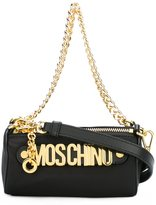 Moschino double compartment shoulder bag - women - Leather/Nylon/metal - One Size