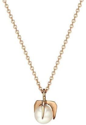 ginette_ny Maria 18K Rose Gold & 4MM Pearl Bead Necklace