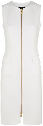 Paule Ka White textured cotton-blend dress