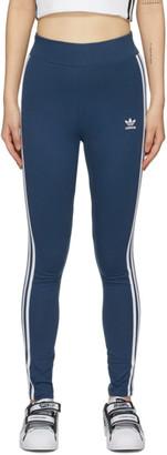 adidas Blue 3-Stripes Leggings