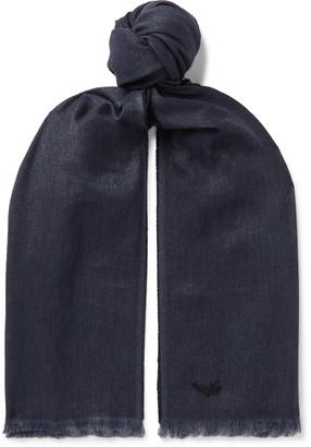 Ermenegildo Zegna Fringed Linen, Cashmere And Silk-Blend Scarf