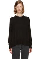 Alexander Wang Black Gauze Knit Oversized Pullover