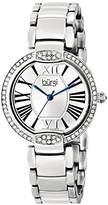 Burgi Women's BUR101SS Crystal Silver-tone Stainless Steel Bracelet Watch
