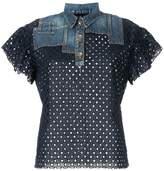 Kolor patchwork polo shirt