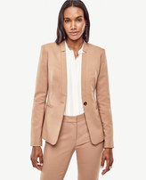 Ann Taylor Tall Doubleweave One Button Jacket