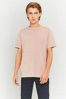 Uo Pink Pigment Dye Crewneck T-shirt