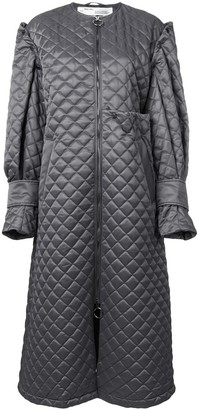 Off-White Quilted Long Coat