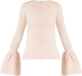 Elizabeth and James Willow bell-cuff ribbed-knit top