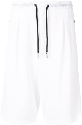 Giorgio Armani Mesh Zipped Pocket Shorts