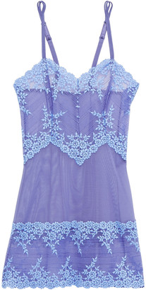 Wacoal Embrace Embroidered Stretch-lace And Tulle Chemise