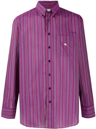 Etro Long Sleeve Striped Print Shirt