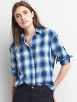 Gap Plaid boyfriend shirt