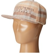 San Diego Hat Company Kids - Flat Bill Adjustable Cap with Sweet Cut Out and Plaid Crown with Wool Blend Bill Caps