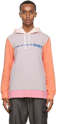 Comme des Garçons Shirt Multicolor Logo Hoodie