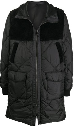 Giorgio Brato Leathered-Panelled Hooded Coat