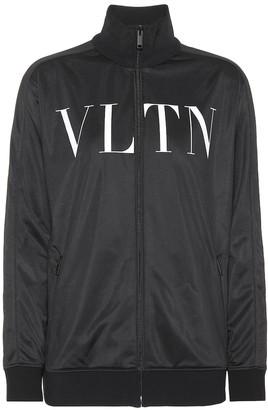 Valentino Printed jersey track jacket