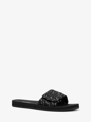 MICHAEL Michael Kors MK Logo Bungee Cord Slide Sandal