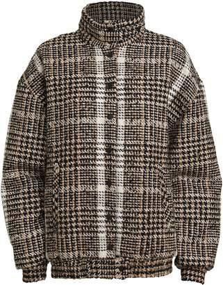 Carmen March Wool Boucle Bomber Jacket