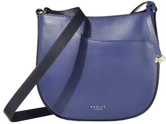 Radley London London Pockets - Medium Zip Top Crossbody (Dove Grey) Cross Body Handbags