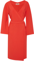 Nina Ricci Cotton Cady Wrap Dress