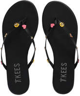 TKEES Trove Emoji Leather Sandal