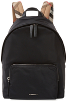 Burberry Plaid Strap Backpack