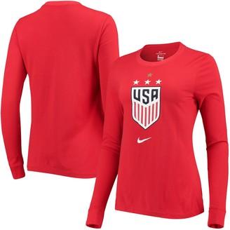 Nike Women's Red USWNT Performance Long Sleeve T-Shirt