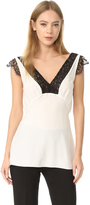 Jenni Kayne Lace V Neck Top