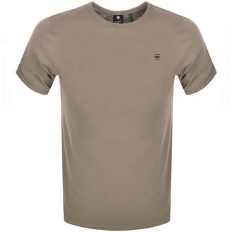 G Star Raw Lash Logo T Shirt Khaki