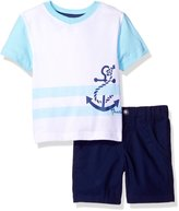 Nautica Toddler Boys' Graphic V-Neck Tee Shirt and Short Two Piece Set